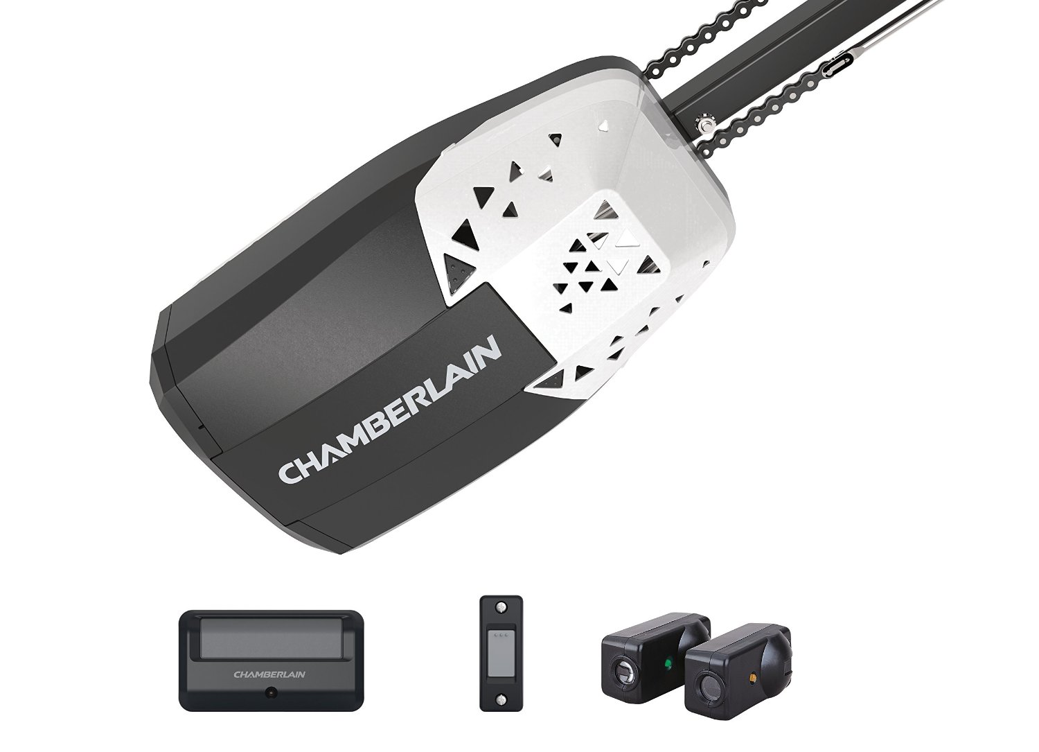 Liftmaster vs chamberlain garage door openers whereas accessories with liftmaster include universal remote 3 button mini remote and control panel equipped with motion detectors chamberlain rubansaba
